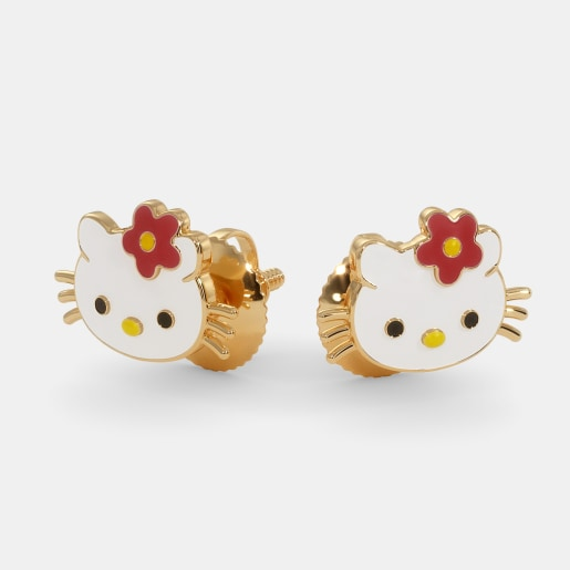The Kitty Earrings For Kids