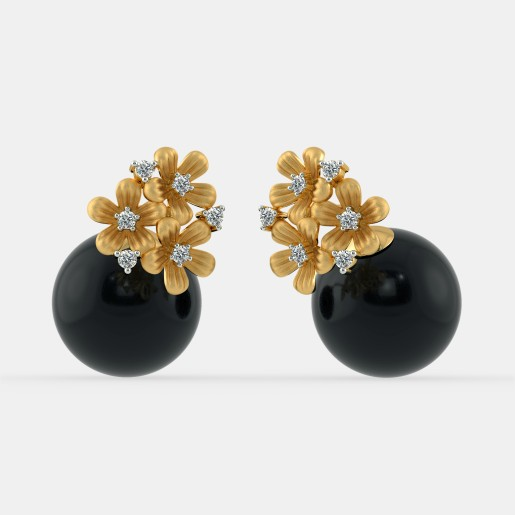 The Wreath Onyx Earrings