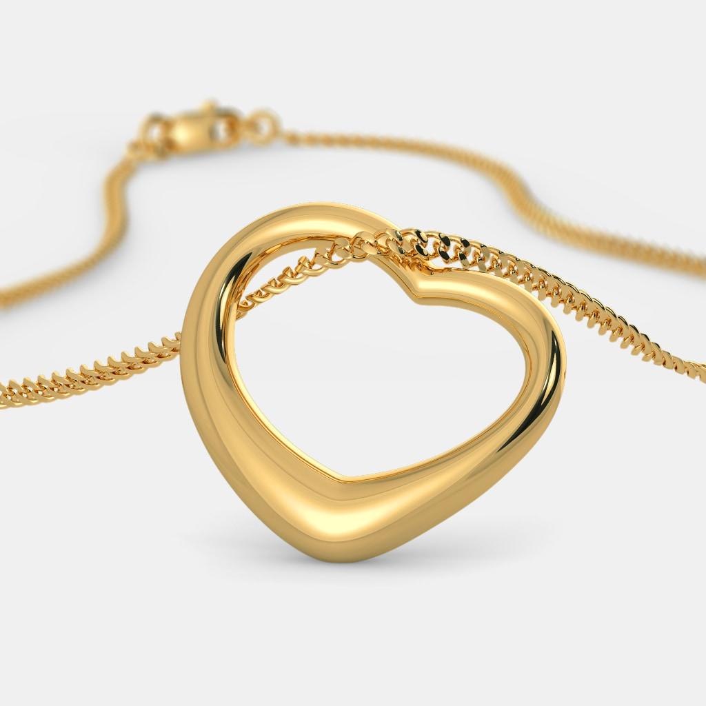 The Gold Kiss Heart Pendant