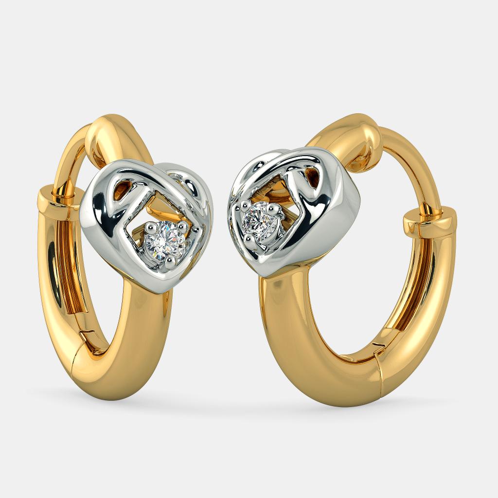 03f3513a0 The Alluring Heart Earrings for Kids | BlueStone.com