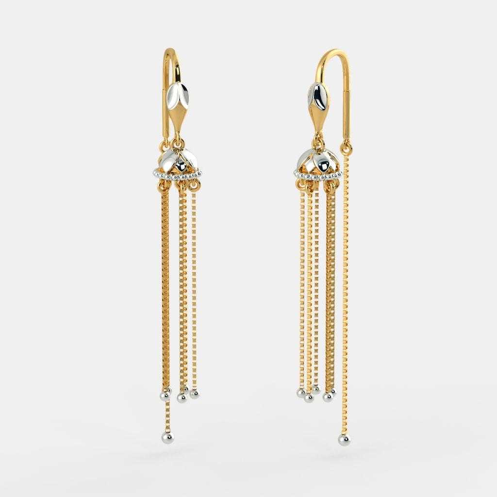 28007f50e The Eva Sui Dhaga Earrings   BlueStone.com