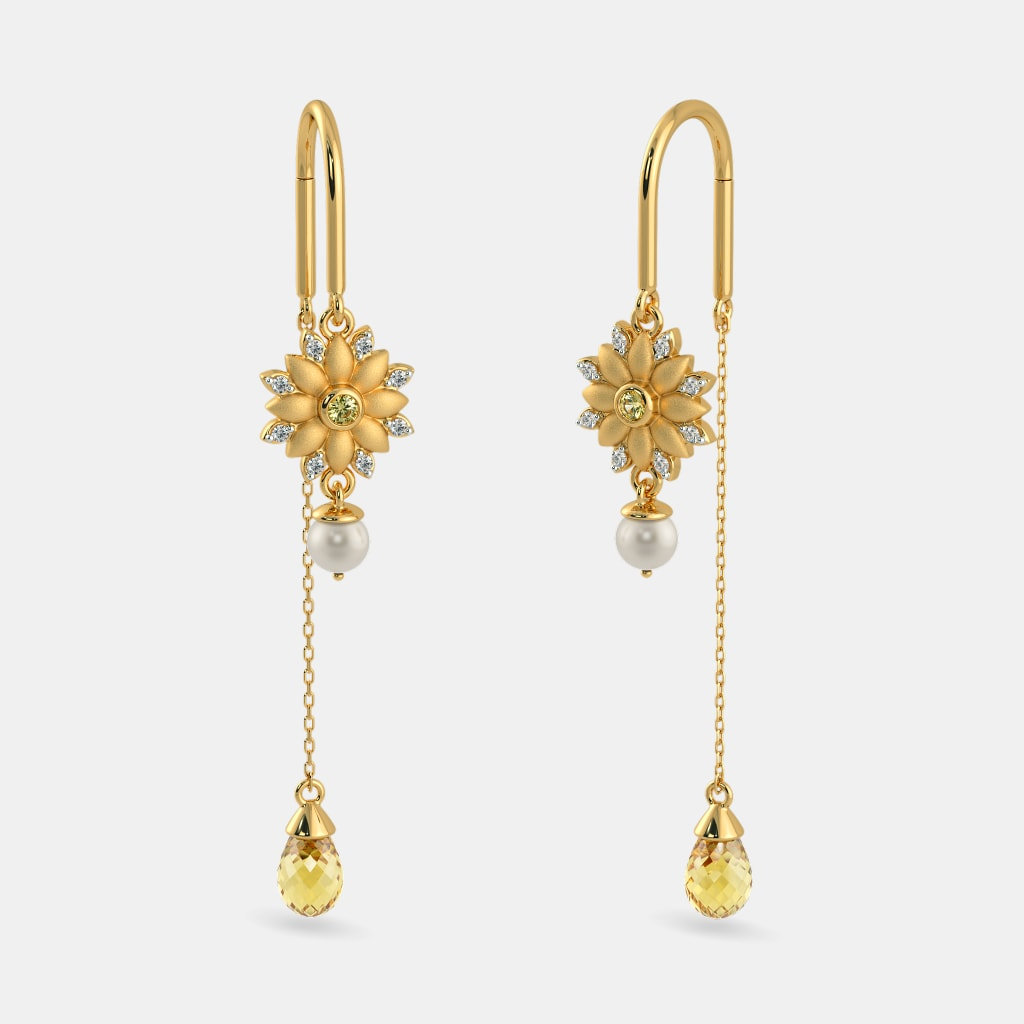 The Pihu Sui Dhaga Earrings Bluestone Com