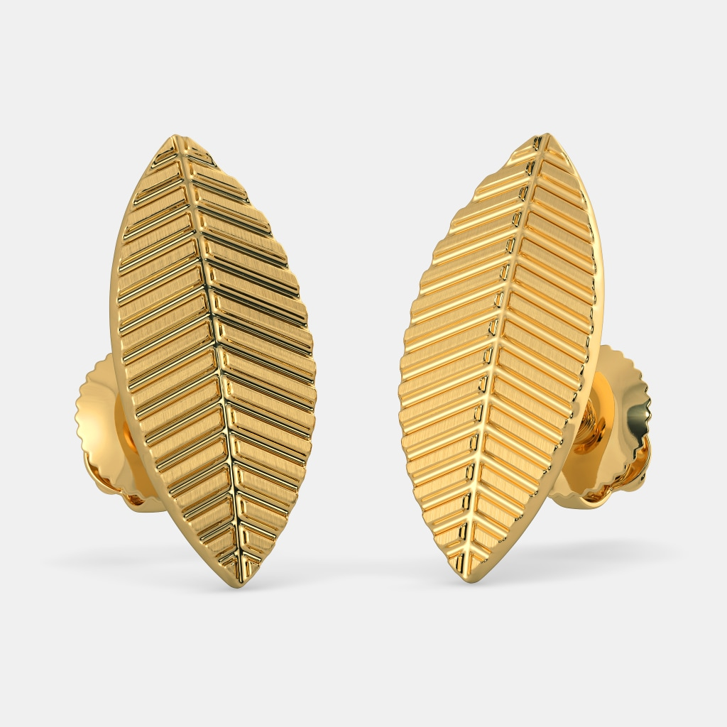987a307f891e0 The Gold Leaf Earrings