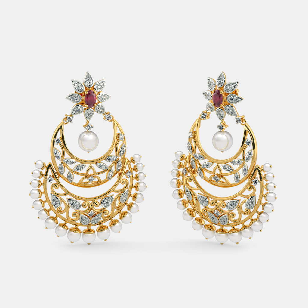 The Zufa Chand Bali Earrings Bluestone Com
