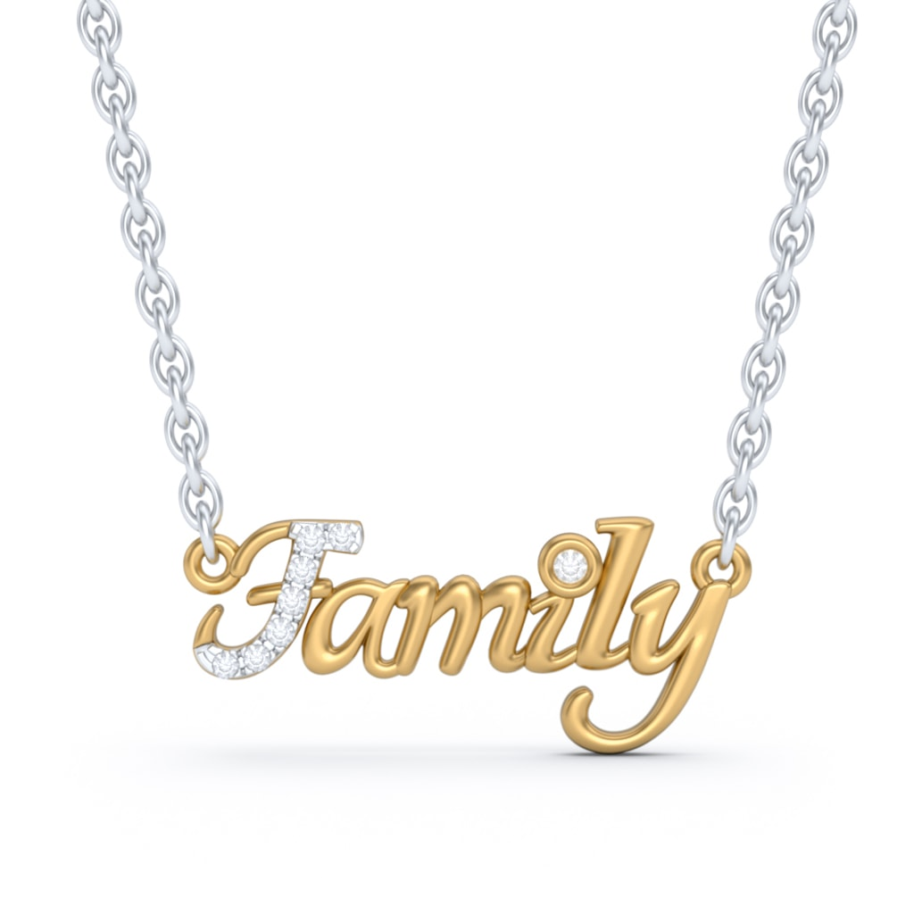The Family Script Necklace