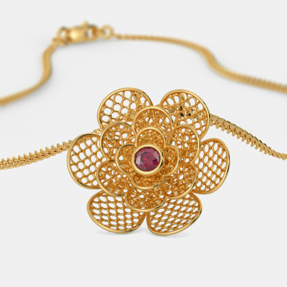 The Camellia Lattice Pendant