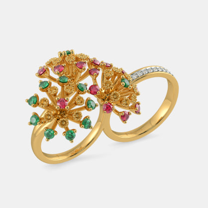 The Ishanvi Two Finger Ring