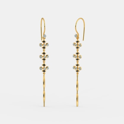 The Gnarled Long Drop Earrings