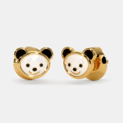 The Kiddie Panda Earrings For Kids