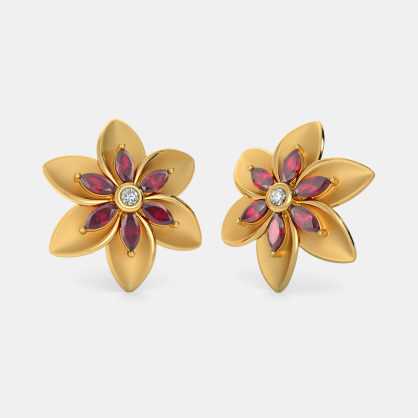 The Arty Floral Stud Earrings