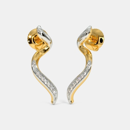 The Twirly Ribbon Stud Earrings