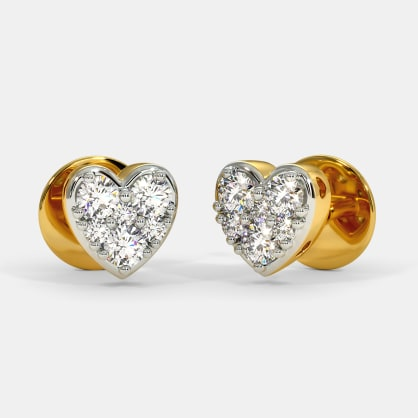 The Glimmer Heart Stud Earrings