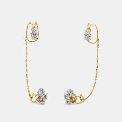 The Jazzie Stud Chain Clips Earrings