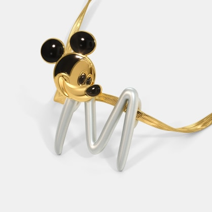 The M For Mine Mickey Pendant For Kids
