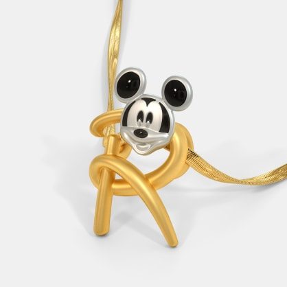 The R For Royal Mickey Pendant For Kids