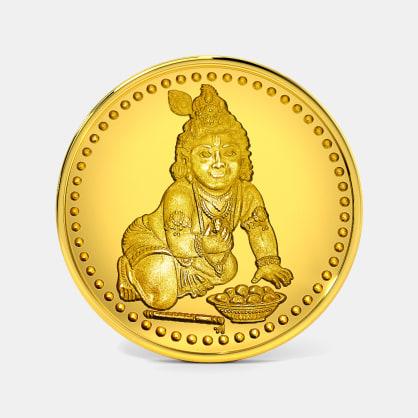 10 gram 24 KT Krishna Gold Coin