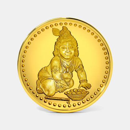 1 gram 24 KT Krishna Gold Coin