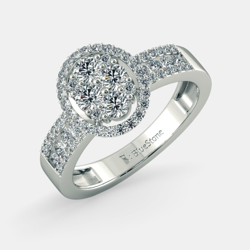 e2886707e Buy 150+ White Gold Engagement Ring Designs Online in India 2019 ...