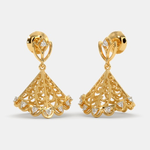 50 Gold Jhumka Earring Designs Online In India 2019