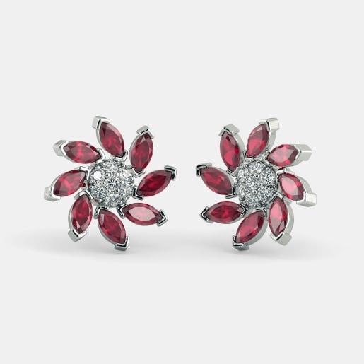 The Flowery Panache Stud Earrings