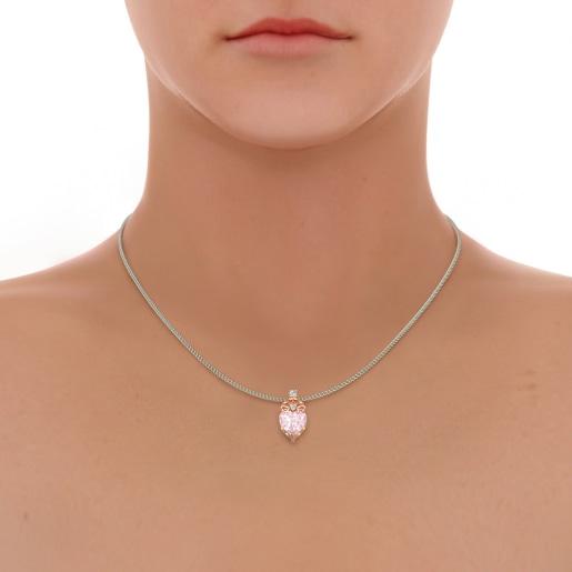 The Fiorella Rose Quartz Pendant
